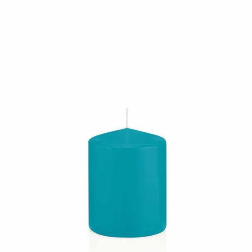 Candela Cilindro altezza 8 cm diametro 6 cm Azzurro