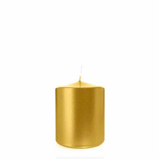 Candela Cilindro altezza 8 cm diametro 6 cm Oro