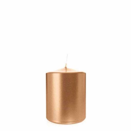 Candela Cilindro altezza 8 cm diametro 6 cm Rosa Gold