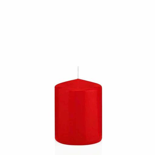 Candela Cilindro altezza 8 cm diametro 6 cm Rosso