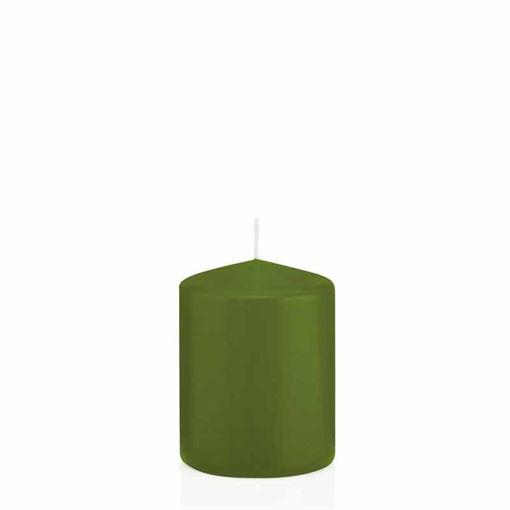 Candela Cilindro altezza 8 cm diametro 6 cm Verde Oliva