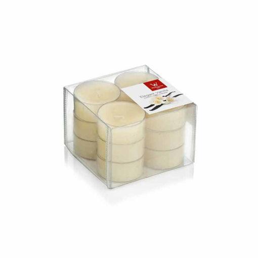 Candele Scaldavivande profumate Vaniglia 12 pezzi
