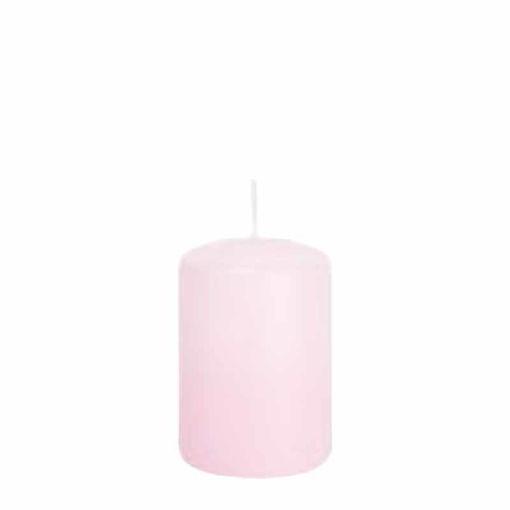 Candela Cilindro altezza 15 cm diametro 8 cm Rosa Baby