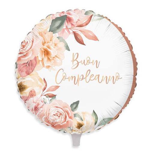 Palloncino Mylar 18″ 45 cm Buon Compleanno Rose Gold