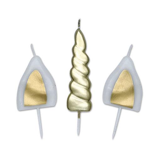 Set Candeline Picks Unicorno 13 cm