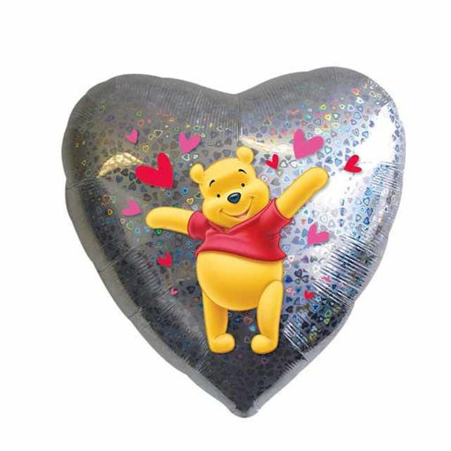 Palloncino Mylar Cuore 45 cm Winnie The Pooh