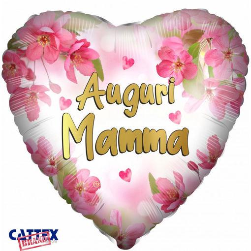 Palloncino Mylar 18'' 45 cm forma cuore Festa della Mamma