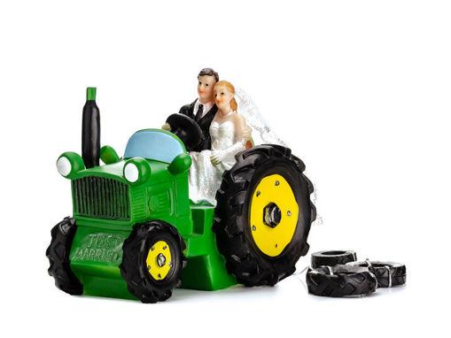 Cake Topper Sposi sul trattore