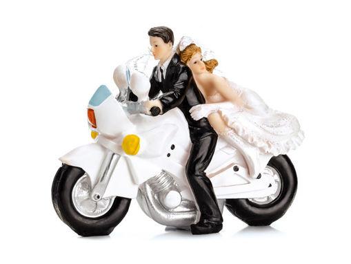 Cake Topper Sposi sulla Moto