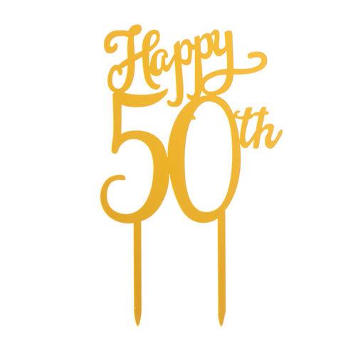 Cake Topper 50° Anniversario Oro