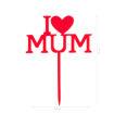 Cake Topper I Love Mamma Rosso