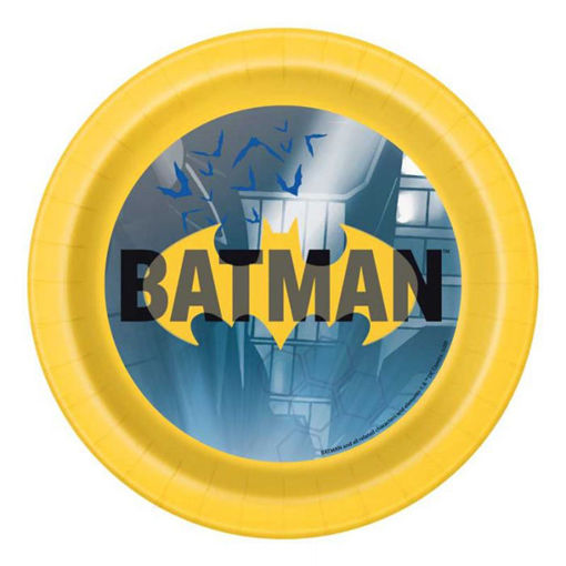 Piatti in carta 18 cm Batman 8 pezzi