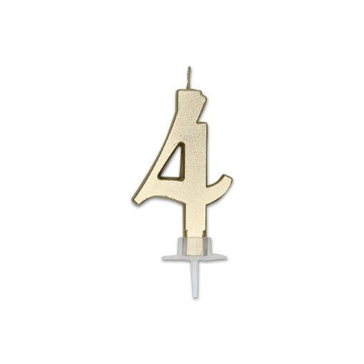 Candela Italic Metal Oro numero 4