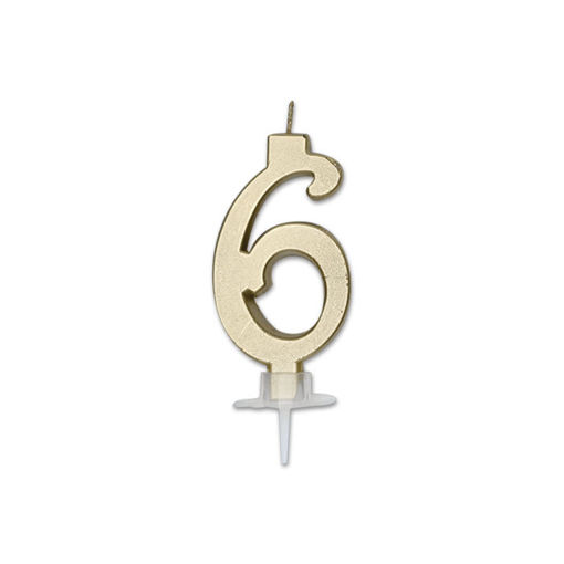 Candela Italic Metal Oro numero 6