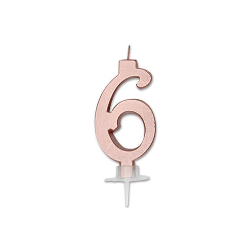 Candela Italic Metal Rosa Gold numero 6
