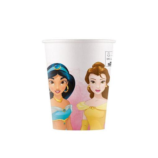 Bicchieri in carta 200 ml Principesse Disney 8 pezzi