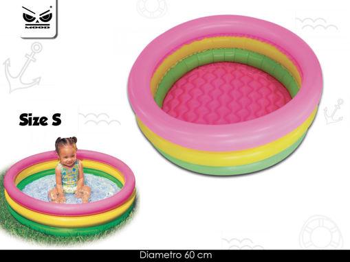 Piscina 3 tubi colorati diametro 60 cm
