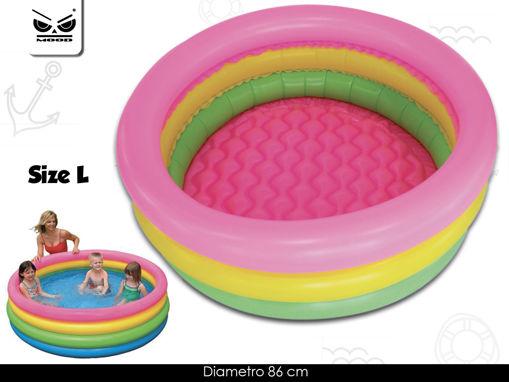 Piscina 3 tubi colorati diametro 86 cm