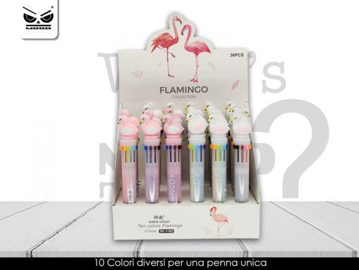 Penna 10 colori con Fenicottero