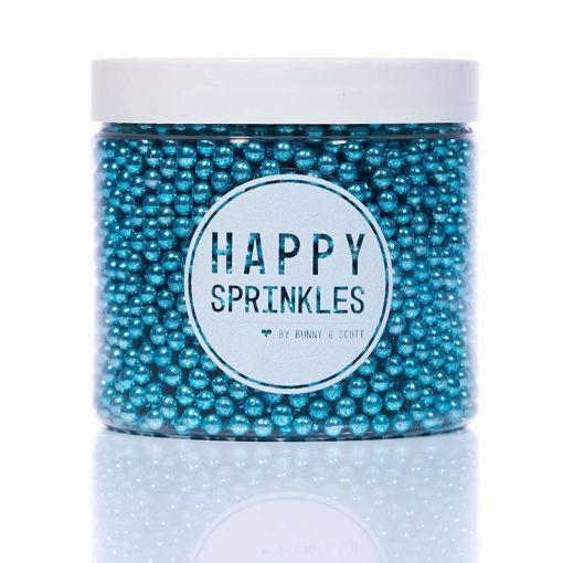 Happy Sprinkles Blue Metallic Pearls 90 grammi
