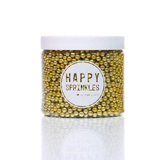 Immagine di Happy Sprinkles Gold Metallic Pearls 90 grammi