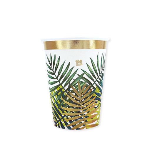 Bicchieri in carta 200 cc Tropical 8 pezzi