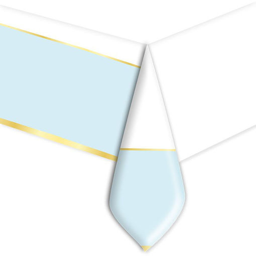Tovaglia in plastica 140 x 270 cm Chic Celeste
