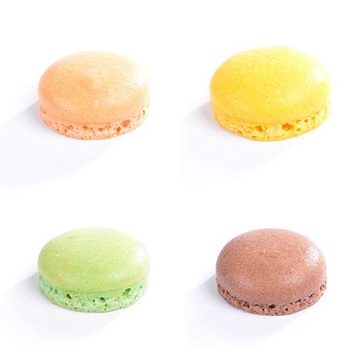 16 mini Macarons 2 cm colori assortiti - 8 coppie.
