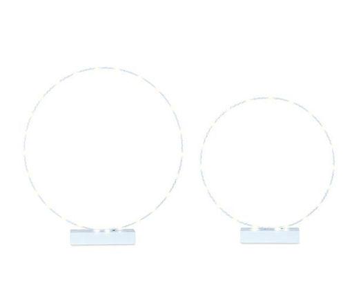 2 Cerchi Azzurro con Led
