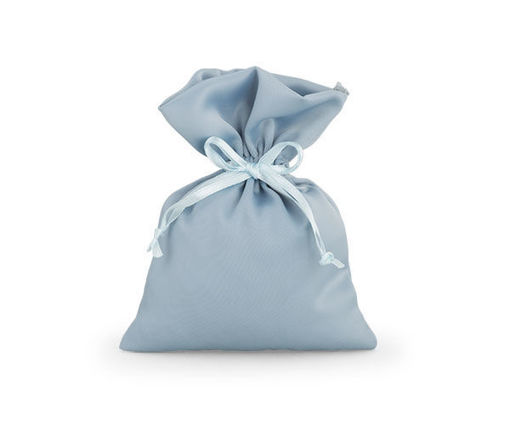 Sacchetto in Raso 10x14 cm Azzurro