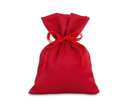 Sacchetto in Raso 10x14 cm Rosso