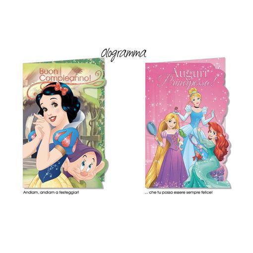 Biglietto Auguri Principesse Disney - modelli assortiti