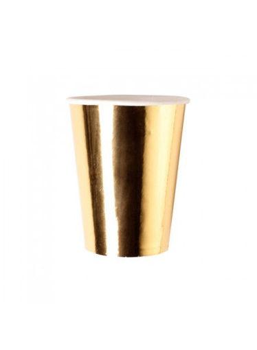 Bicchieri in carta 250 cc Oro Lux 8 pezzi