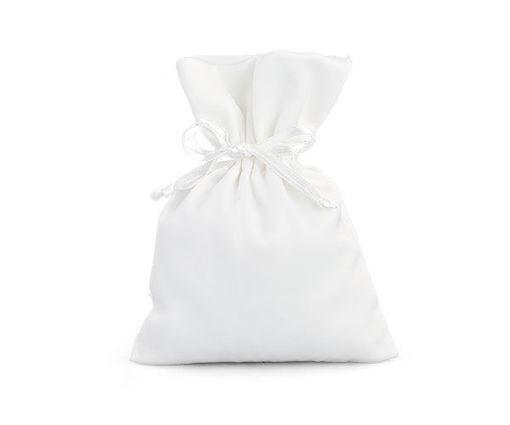 Sacchetto in Raso 10x14 cm Bianco
