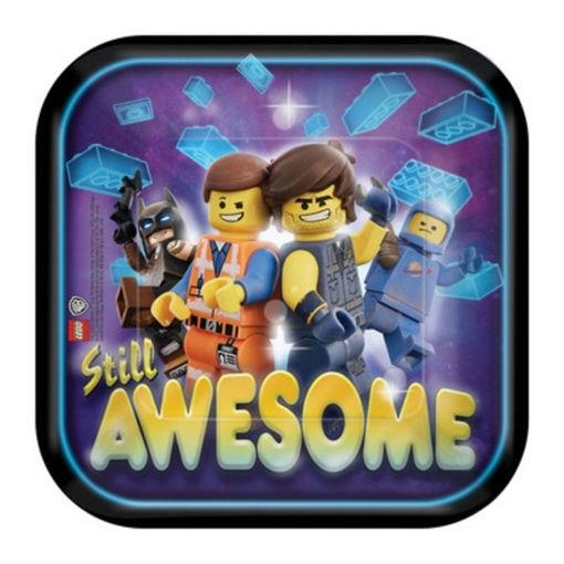Piatti in carta 18 cm Lego Movie 8 pezzi