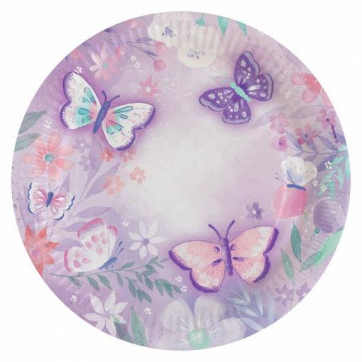 Piatti 23 cm Farfalla 8 pezzi