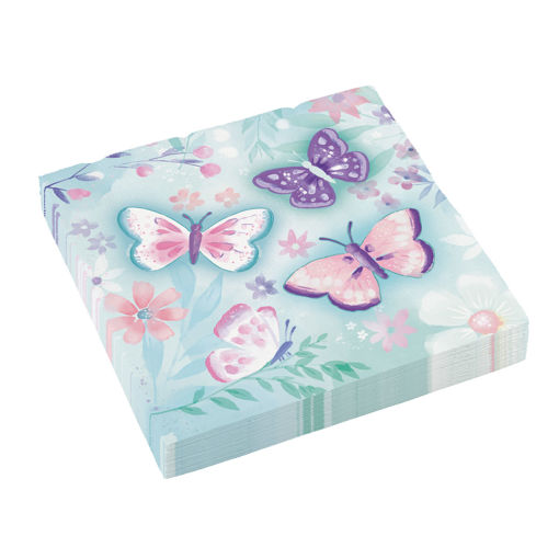 Tovaglioli 33x33 cm Farfalla 16 pezzi