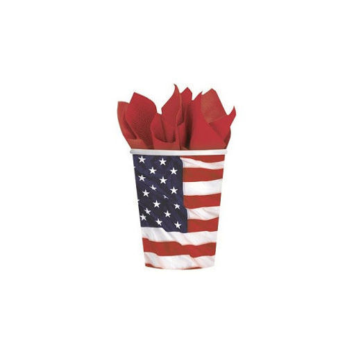 Bicchieri 266 cc Bandiera USA 8 pezzi