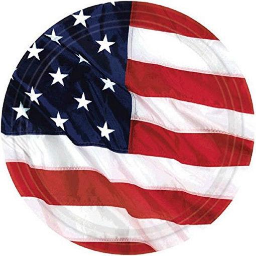 Piatti 17,7 cm Bandiera USA 8 pezzi