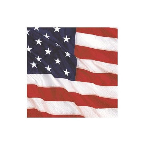 Tovaglioli 25x25 cm Bandiera USA 16 pezzi