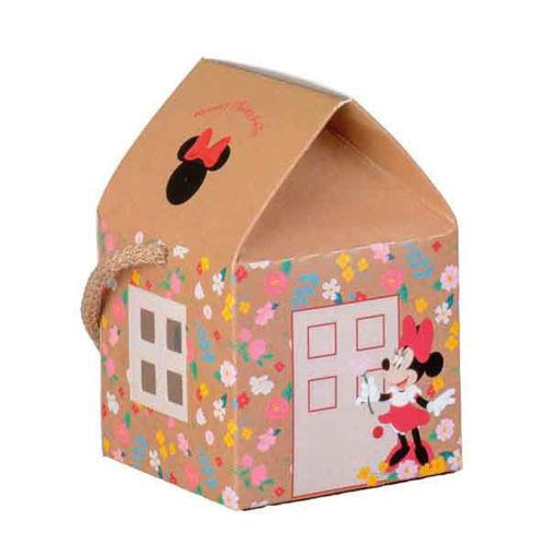 Immagine di Scatola portaconfetti Casetta Minnie Flower 5,5x5,5x5 cm 10 pezzi