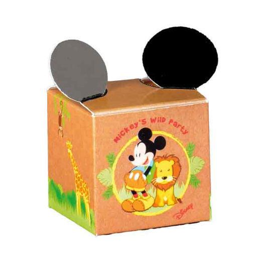 Immagine di Scatola portaconfetti Cubo Mickey Mouse Savana 5x5x5 cm 10 pezzi