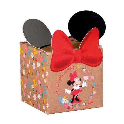 Immagine di Scatola portaconfetti Cubo Minnie Flower 5x5x5 cm 10 pezzi