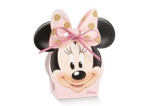 Immagine di Scatola portaconfetti Volto rosa Minnie Ballerina 5,5x4x10,5 cm 10 pezzi