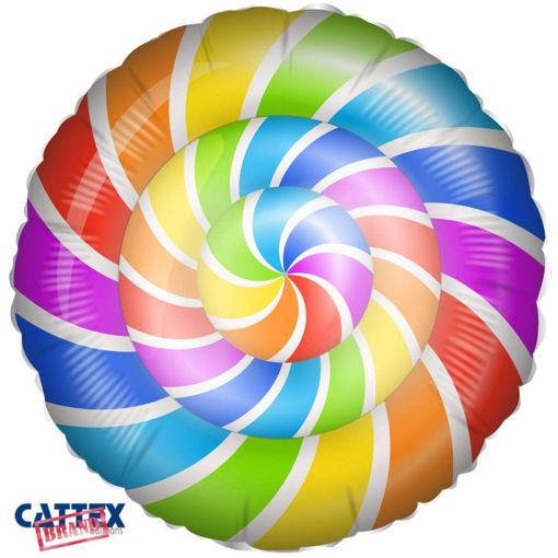 Palloncino Mylar 18'' 45 cm Lecca Lecca Spirale
