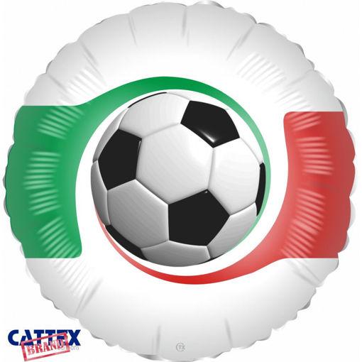 Palloncino Mylar 18'' 45 cm Pallone calcio con tricolore Italia