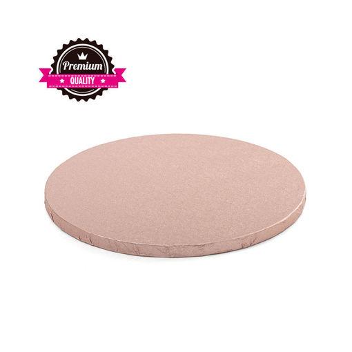 Cake Board Rosa Gold diametro 25 cm spessore 1,2 cm