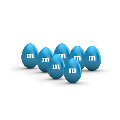 Sacchetto M&M's con arachidi Azzurro 500 grammi