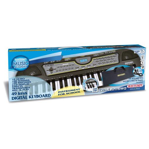Tastiera digitale 49 tasti passo medio con borsa ed adattatore USB
