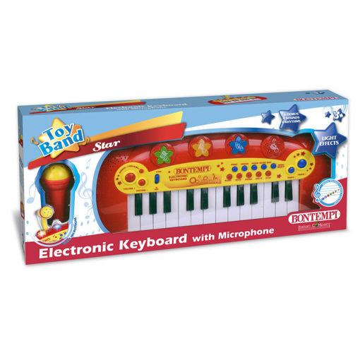 Tastiera elettronica 24 tasti con microfono